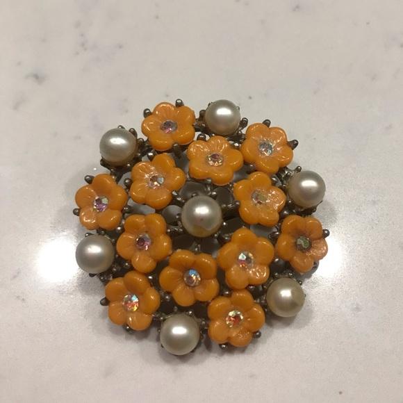 Orange Flower Brooch✨Discount Bundle Sale✨